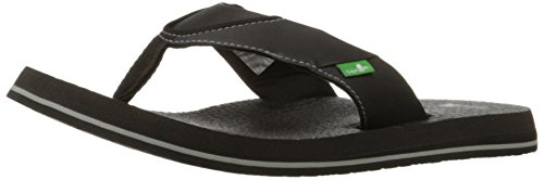 Flip Flops Sanuk Mens - Sanuk Men's Beer Cozy Flip Flop, Black, 11 M US