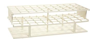 Nalgene 5970-0025 Acetal Plastic Unwire Test Tube Rack for 25mm Test Tubes, White