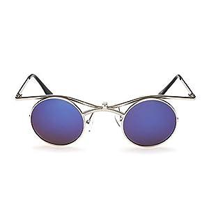 "W-Q ""Vampire"" Retro Trendy UV Protection Metal Flip Round Sunglasses(C1)"