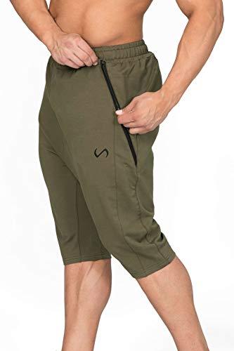 TLF Mens Unrestrained Shorts, Workout Bottoms - Camo Green - Medium