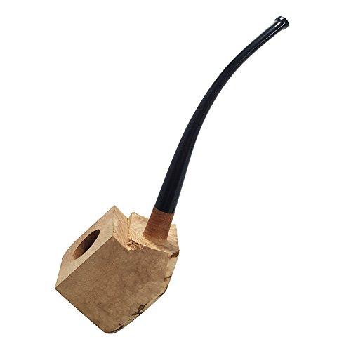 (FULUSHOU Tobacco Pipe Mediterranean Briar Wood Block - Semi-Finished Tobacco Pipe -Style 2)
