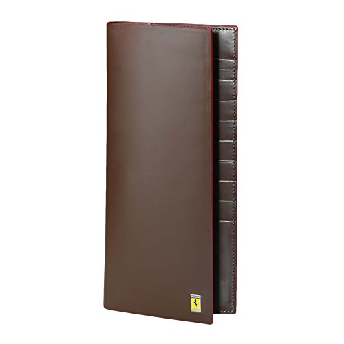 Men's Ferrari Cavallino Rampante Travel Document Holder One size Dark Brown by Ferrari