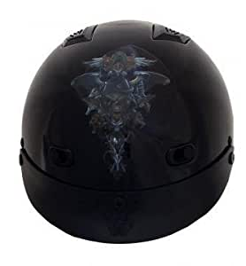 DOT Vented Dragon Skull Motorcycle Helmet-XS