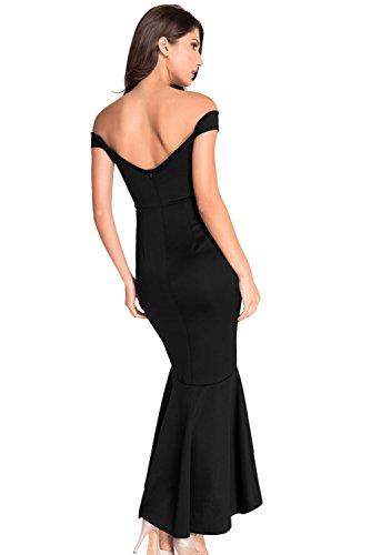 Nuevo Negro de la mujer Off hombro vestido de noche vestido de oficina CASUAL noche partido desgaste tamaño S UK 8–�?0EU 36–�?8