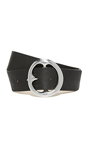 B-Low The Belt Women's Bell Bottom Belt, Black/Silver, Large by B-Low the Belt