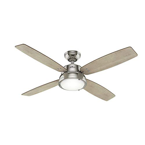 Hunter 59439 Wingate 52″ Ceiling Fan with LED Light & Remote, Brushed Nickel Review