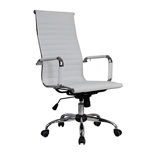 ViShow 2019 New Office Chair Leather Desk,Gaming Chair With Massage Function Adjust Seat Height,High-End Computer Chair,Office Chair Reclining Home Massage Chair Lift Massage Chair Desk Seat (White) (Best Gaming Desk Chair 2019)