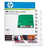 HP LTO4 ULTRIUM RW BAR CODE LABEL PACK A PACK OF 110 UNIQUELY SEQUENCED ULTRIUM