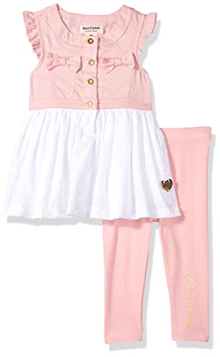 Ideas To Dress Up As (Juicy Couture Baby Girls 2 Pieces Legging Set, Pink/Silent Vanilla,)