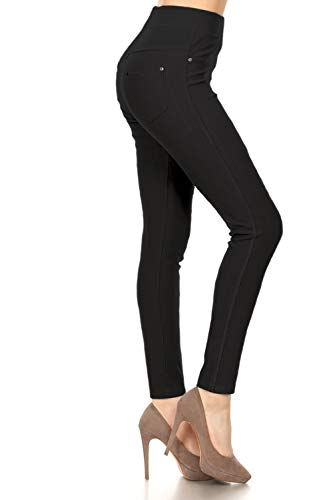 J04-1004OS-BLACK Premium Quality Jeggings
