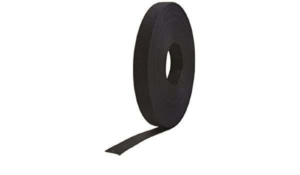 189590 VELCRO Brand ONE/_WRAP Tape 1 x 25 Yard Double Sided Self Gripping Roll Black