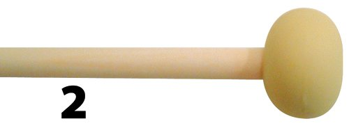 Mike Balter Unwound Series Keyboard Mallets 2 Soft 1 Inch Rubber Birch (2 Soft 1 Inch Rubber Birch) (Mallets Keyboard Medium Series)