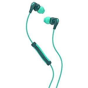 Skullcandy Method In-Ear Sweat Resistant Sports Earbud, Teal/Green