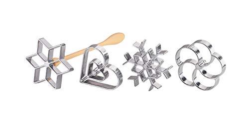 (Tescoma 630048.00 Rosette Waffle Iron | with 4 Shapes | Rosette Waffle Maker)