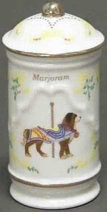 Lenox Porcelain Carousel Spice Jar - Marjoram, used for sale  Delivered anywhere in USA