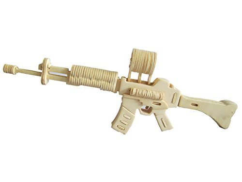 STONG 3D Carbine Jigsaw Woodcraft DIY Assembly Sniper rifle Handcraft Gun Model Products Art jigsaw puzzle Toy or Hobby Decorative Model for Children and Adult (Wood Sniper Rifle)