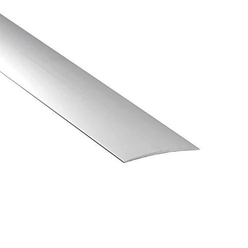 Self Adhesive Aluminium Threshold Strip 60mm x 1M Door Floor Trim Transition LPOSK TMW Profiles (Silver)