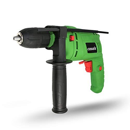 Casals VT60REAM - Taladro percutor (600 W, 3.000 rpm, con maletín) color verde y negro