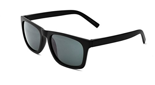 Zoo York Men's Square Sunglasses, Black Frame, Smoke Lens, - Eyewear York Zoo
