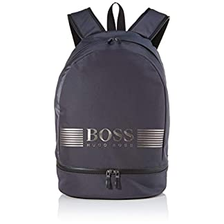 BOSS Herren Pixel Ml_backp Pock Rucksack Grau (Dark Grey) 6