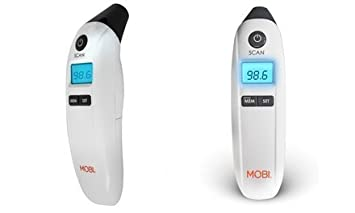 MOBI DualScan PRIME Ear & Forehead Thermometer with Food & Bottle Readings (2017 ...