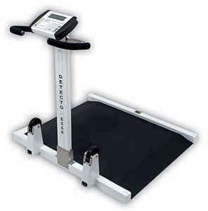 Detecto, Wheelchair Scale, Portable, Folding Column, 1000 lb x .2 lb / 450 kg x .1 kg ()