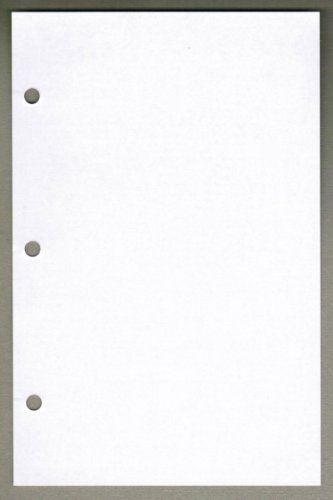 Linco Unruled Filler Paper, 5.5'' x 8.5'', White, 3-holes, 24lb, 100 Sheets by Linco