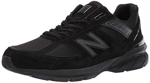 New Balance Men's 990v5 Made in The USA Sneaker, Black/Black, 10 M US