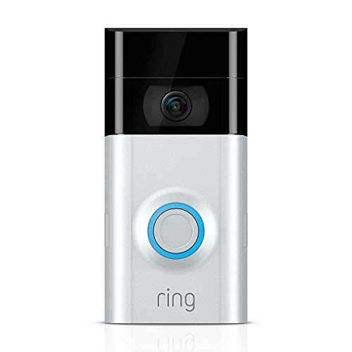Ring Video Doorbell 2 1080P HD Wireless Camera Monitor with Night Vision and Installation Tools, Cleaning Cloth