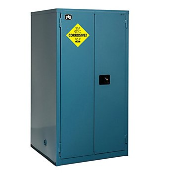 New Pig CAB754 18-Gauge Steel Corrosives Safety Cabinet with Manual Close Door, 60 Gallon Capacity, 34