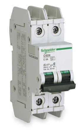 2P Miniature Circuit Breaker 20A 120/240VAC by Schneider Electric
