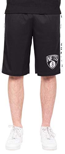 Ultra Game Men's NBA Mesh Basketball Shorts, Brooklyn Nets, Black, XX-Large (Brooklyn Basketball Shorts Men)