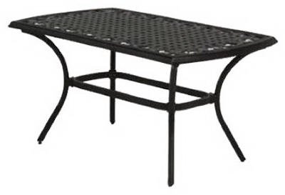 "Agio International Laramie Coffee Table - Boat shaped pattern Designed for use with Laramie Collection products Dimensions 39.96""L x 25.98""W x 20.20""H - patio-tables, patio-furniture, patio - 31BXKhvSK%2BL -"