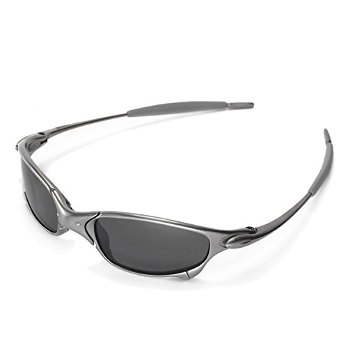 849050512e Walleva Replacement Lenses for Oakley Juliet Sunglasses - Multiple Options  Available (Black - Polarized)