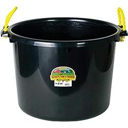 Miller Manufacturing PSB70BLACK Muck Tub/Bucket for Horses, 70-Quart, Black
