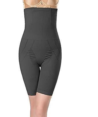 b176f604bfc27 Shape Mi Women s High Waist Tummy and Thigh Control Shapewear at ...