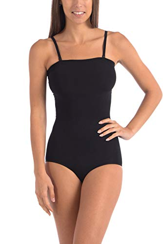 Body Beautiful Seamless Strapless Bodysuit Shaper Black Small/Medium