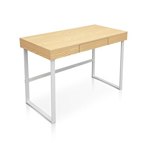 IKAYAA Mordent Computer Desk Workstation with Drawer, Home, Office, Study Writing Desk Furniture by IKAYAA