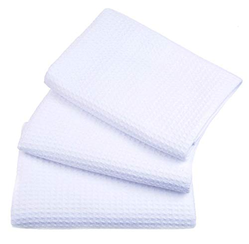 8 Pack White Eurocafe Waffle Weave Terry: Sinland Waffle Weave Microfiber Kitchen Towels Dish Cloths