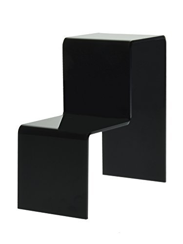 Marketing Holders Black Acrylic 2 Tier Counter Top Riser Stand Jewelry Stand (pack of 24)