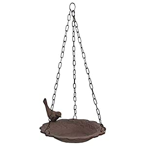 Hanging Birdbath Feeder Cast Iron Patio Garden Yard 35