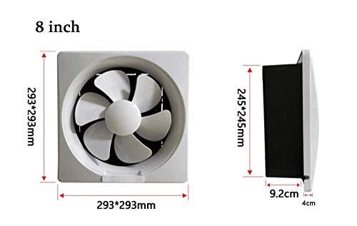 BeTyd Desk Fan,Exhaust Fan Ventilator for Kitchen/Toilet/Bathroom/Industrial/Window Extractor Fan White/Gold,Plastic ventilating Fan Energy-Saving Silent,8inch 29.3x29.3cm (Color : White)