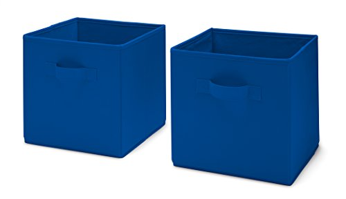 Delta Children Storage Cubes, Blue, 2 Count - Preschooler Shelf Storage