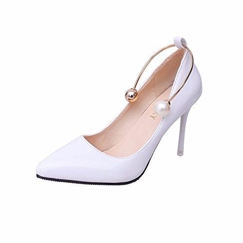 GTVERNH Damen damen Pumps HeelsPerlen Einzelne Schuhe Frühjahr Zeigte Dünn Wildleder Retro Square Cat Eye