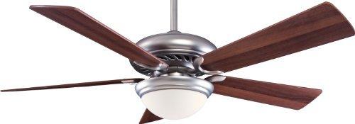 Minka-Aire F569-BS/DW Minka Aire One-Light Ceiling Fan, Brushed Steel/Dark Walnut