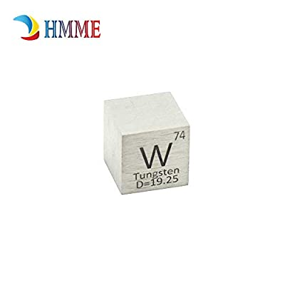 Pure Metal Tungsten 10mm Density W Cube for Element Collections Lab Experiment Material Hobbies Simple Substance Block Display DIY: Industrial & Scientific