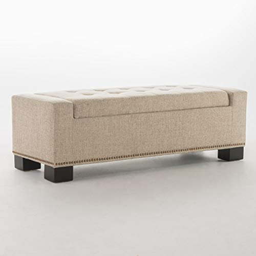 Christopher Knight Home Explorer Fabric Storage Ottoman