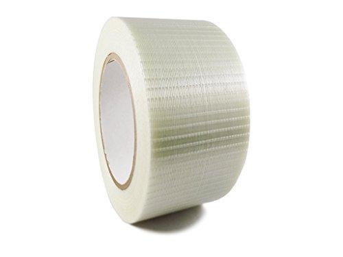 T.R.U. FIL-835B/D Transparent Bi-Directional Filament Strapping Tape: 3 in. x 60 (Yds Packaging Tape)