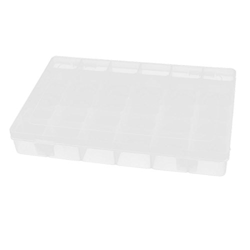 Uxcell Plastic 36 Detachable Compartment Electronic Component Holder Case Box
