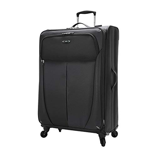 Skyway Luggage Mirage Superlight 28-Inch 4 Wheel Expandable Upright, Black, One Size ()